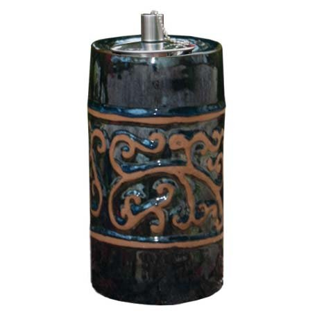 UPC 840594082156, Smart Garden 215040-09BM Etruscan Ceramic Garden Torch, 9-Inch Tall, Blue Midnight, Outdoor Accent Piece Is Perfect For Lining Walkways Or Using As Center Piece On Tables