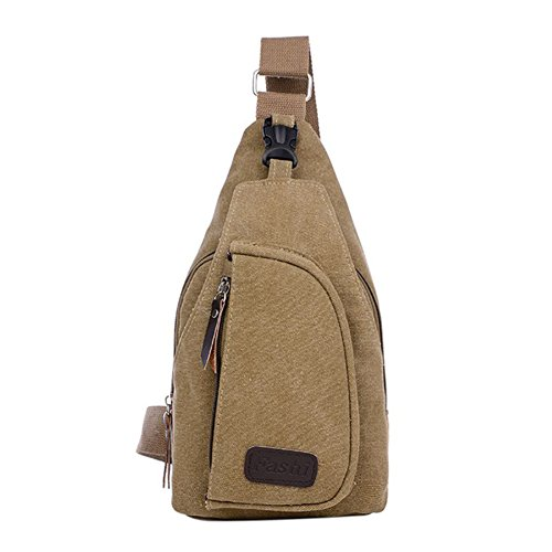 Luxsea Chest Bag Classic Messenger Bag - Vintage Canvas for All-Purpose Outdoor Use