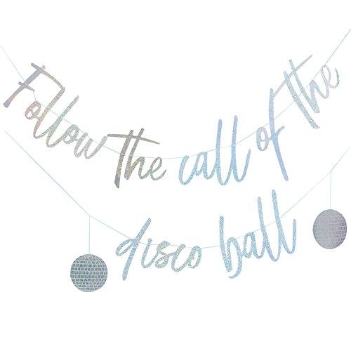 Iridescent Foiled Disco Ball Silver Backdrop - 3 metre ()