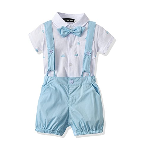 FERENYI US Baby Boys Bowtie Gentleman Romper Jumpsuit Overalls Rompers (0-6 Months,...