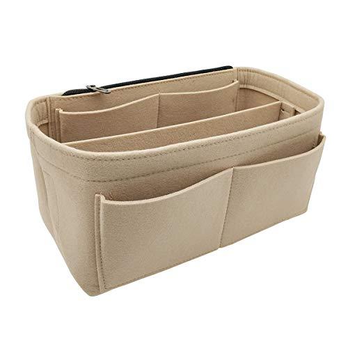 LEXSION Purse Organizer Insert Felt Bag Organizer fits LV Goyard St Lious Tote and handbag shaper Beige X-Large 8021