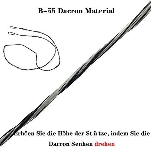 16 Str/änge f/ür Recurve Bogen Reiterbogen und Kompositbogen AliArchery B-55 Dacron Bogensehne als Ersatz Sehnenl/änge 44-68 Zoll mit 12 14
