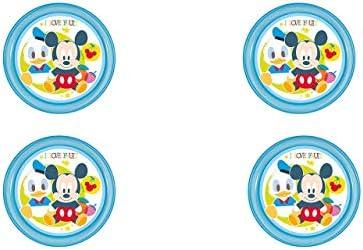 ALMACENESADAN 2225, Pack 4 Platos para Mesa Dulce Disney Mickey ...
