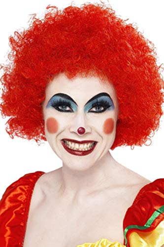 Smiffys Women's Crazy Clown Wig, Red, One
