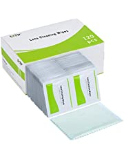 Glasses Cleaner Wipes Individually Wrapped, EOTW Spectacle Wipes Alcohol Free Eye Glasses Wipes with 1 Piece Cleaning Cloth for Reading Glasses/Sunglasses / 3D Glasses Lens Cleaning Kit (Pack of 120)