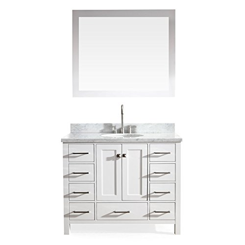 ARIEL-Bathroom-Vanity-Cambridge-Series-37-Inch-Left-Offset-Single-Sink-Vanity-Set-in-White