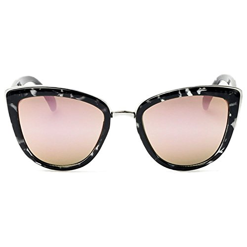 Quay My Girl Sunglasses Cat Eye Frame Kitty Metallic Aviator (Black Tortoise w/ Pink - Quay My Sunglasses Girl