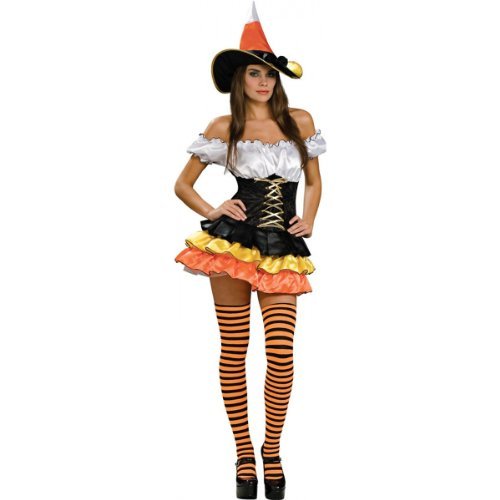 Cuties Oranges Halloween Costume (Secret Wishes  Candy Corn Cutie Costume, Orange, Medium)