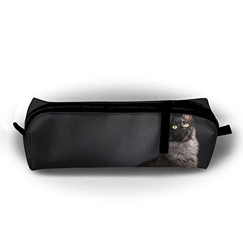 Kui Ju Pencil Bag Pen Case Cat Side View Cosmetic Pouch Students Stationery Bag Zipper Organizer
