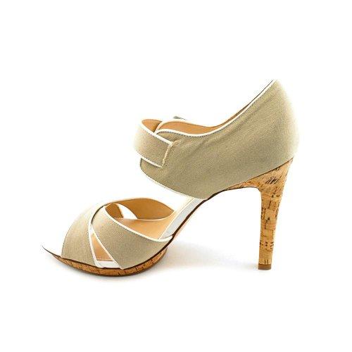 Mark Fisher Women's Kali Open Toe Sandals in Natural Multi Size 9.5