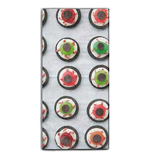 Gkoko Halloween Eyeball Dessert Washcloth Large Bath Towel - Multipurpose Bathroom Towels for Hand, Face, Gym and Spa Pool Towels (31.5 x 51 Inches) - Multi Color Towels with High Absorbency ()