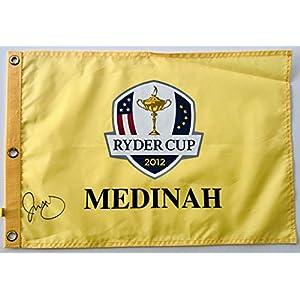 Rory Mcilroy signed Ryder cup flag 2012 medinah golf pga