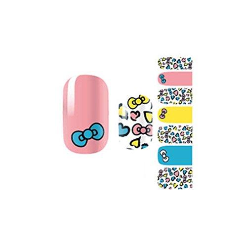 Bright Polish Alloy Wheel (Bright Multi Color Self Adhesive Art Decals Nail Stickers Pattern Code NO.38)