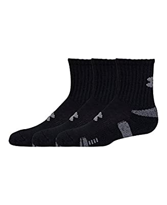 Under Armour Men's HeatGear Crew Socks (Pack of Three Pairs)