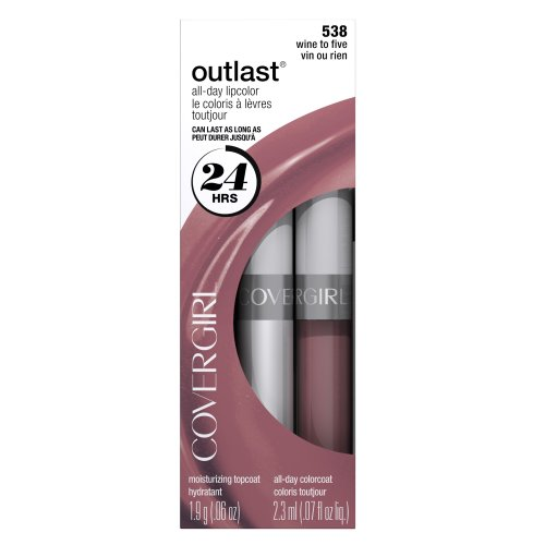CoverGirl Outlast All Day Two Step Lipcolor, Wine To Five 538, 0.13 Ounce