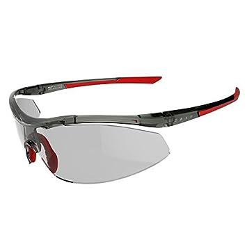 Decathlon Ciclismo Adultos y Ejecución de las gafas de sol deportivas Kalenji Bislett fotocromáticos Gafas de sol - gris y rojo: Amazon.es: Deportes y aire ...