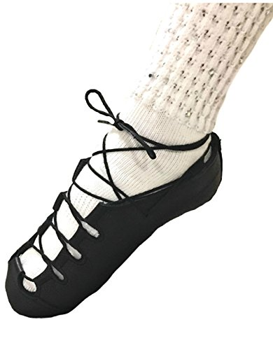 Irish Dancing Soft Shoes - Aoife Split Sole Ghillie Dance Shoe - Pumps made in Ireland (Laces Included) (US 3½ Adult / UK 1½ Child)