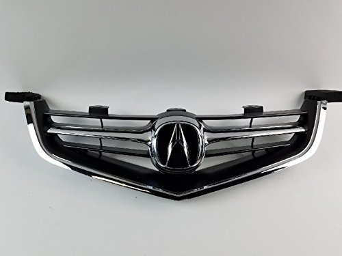 2004 2005 Acura TSX Grille with OEM Emblem & Chrome - Acura Grill