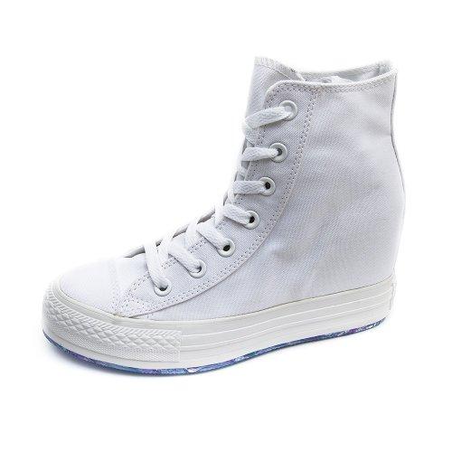 Converse Womens Chuck Taylot All Star Platform Plus White Sneaker - 7