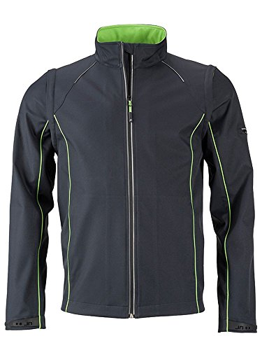 Giacca In 2 Staccabili grey Con Softshell Iron Men's off 1 Maniche Jacket Zip green arqaHnxw5