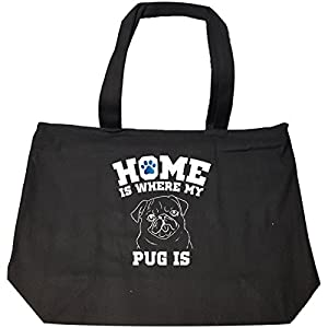 Home Is Where My Pug Is Ttd2 - Tote Bag With Zip
