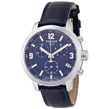 Tissot Men's Prc 200 T055.417.16.047.00 Blue Leather Swiss Quartz Watch