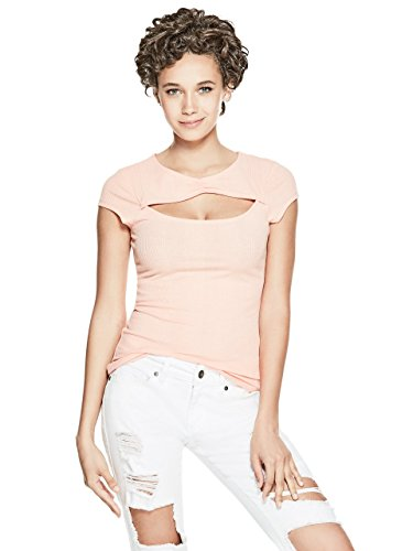 G by GUESS Zia Short-Sleeve Peach Keyhole - Guess Clothing Designer