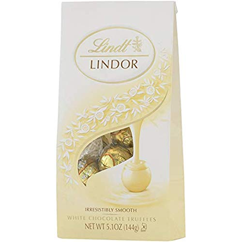 Lindt Lindor White Chocolate Truffle, 5.1 Ounce Bags (Pack of 2)