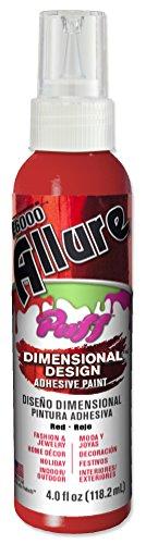 E6000 57060403 003C Allure Puff Dimensional Adhesive Paint, Red, 4 fl. oz. -