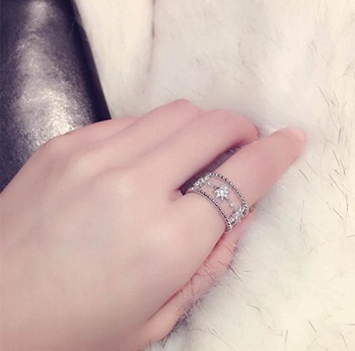 Generic New fine fashion Korean version of Europe and America star temperament diamond ring opening retro index finger ring personality influx of women