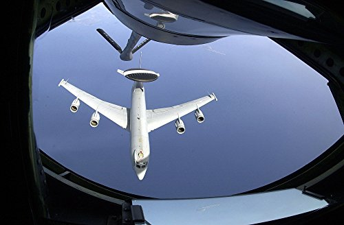 (Home Comforts LAMINATED POSTER The E-3B Sentry, the air battle command and control plane that continually monitors Europe, breaks a)