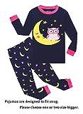 Little Girls Long Sleeve Pajamas Sets 100% Cotton Pyjamas Toddler Kids...