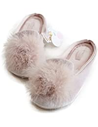 Women's Cozy Velvet Memory Foam House Slippers Non Slip Soles