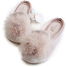 Women's Cozy Velvet Memory Foam House Slippers w/ Non Slip Soles