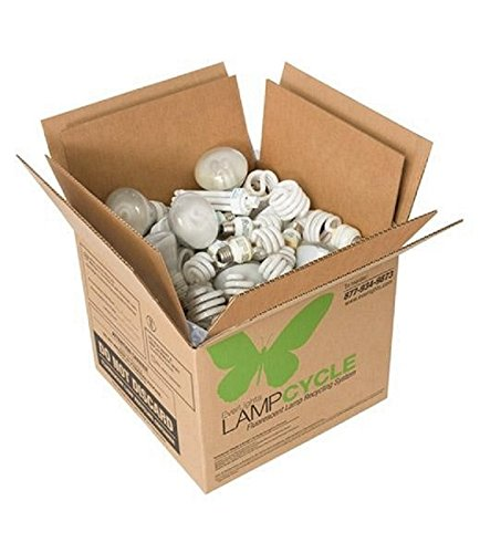 EverLights RCFL325 LampCycle Compact Fluorescent Tube Recycling Kit, Medium (Bulbs Recycling Compact Fluorescent Light)