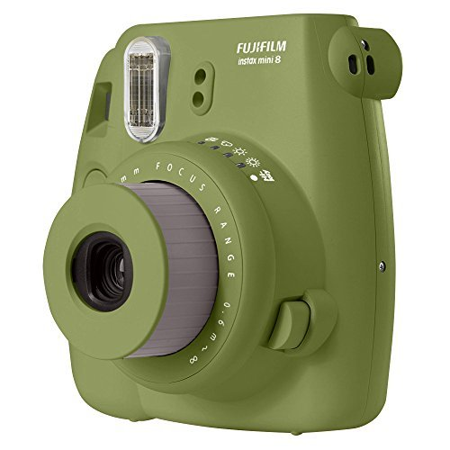 Fujifilm instax Mini 8 Instant Film Camera (Avocado) - International No Warranty