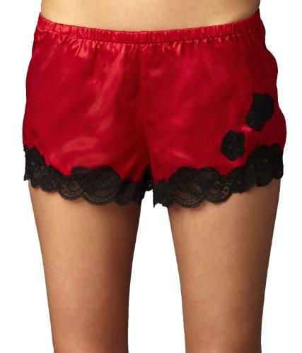 Julianna Rae Women's 100% Silk Tap Pant, Flattering Fit, Le Tresor Collection, Scarlet, M (Tresor Sheer)