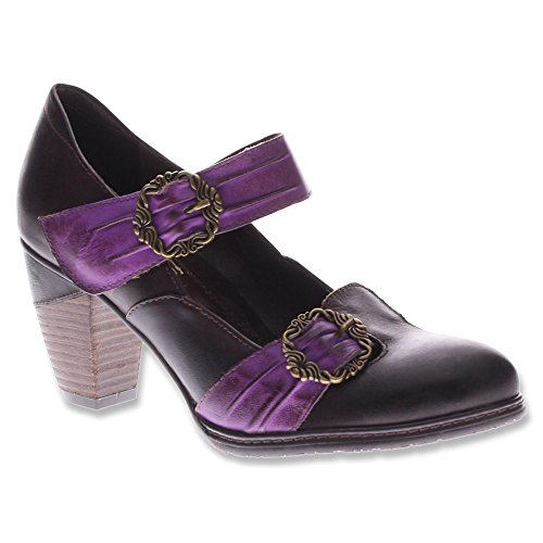 Spring Step Womens Delany Mary Janes Fashion Flats Marrone Multi