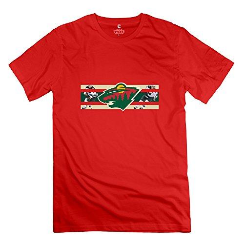 2015 NHL Playoffs Minnesota Wild Men's Tshirts Red Size M