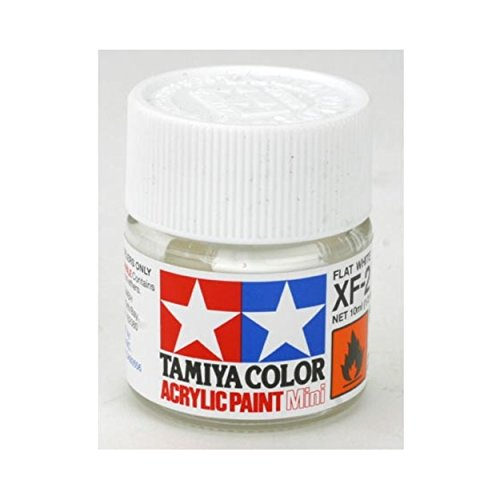 Tamiya USA TAM81702 Acrylic Mini X-F2 Flat White 1/3 Oz