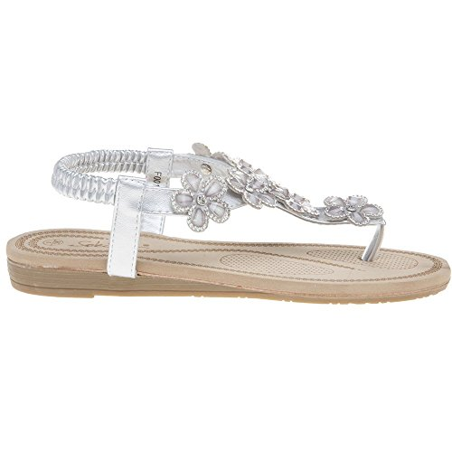 SOLESISTER Betty SOLESISTER Betty Sandals Silver Metallic Sn6EdO