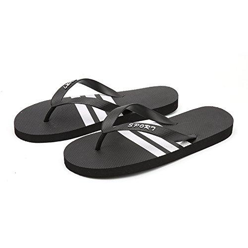 Xing Lin Sandales Pour Hommes Été De Nouvelles Tongs Pour Hommes Chaussons Antidérapants Sandales Chaussures De Plage Occasionnels De Grande Taille, Taille 39 Chaussures Noir Blanc 688, Pôle