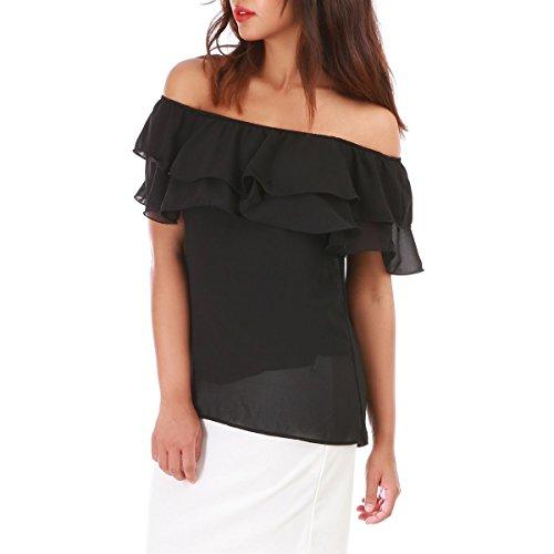 La Modeuse - Camiseta sin mangas - para mujer negro