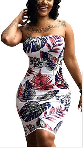Stampa Da Uninukoo Donna Con women Abito Aderente Bodycon 1 Tupath Floreale Estiva Mini Clothes Unko wO8X0PNZnk