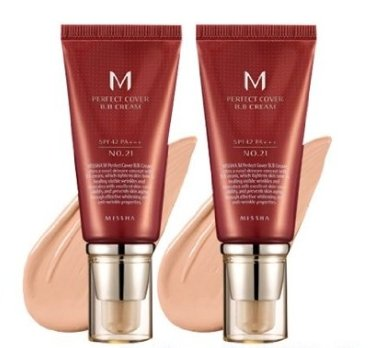 MISSHA Perfect Cover BB Cream SPF 42 Pa Plus # 21, Light Beige 1+1