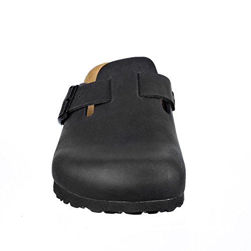 Womens Narrow Soft Shoes Black N JOYCE and Clogs Slippers JOE Mens Leather Softbedded U0vqxwA
