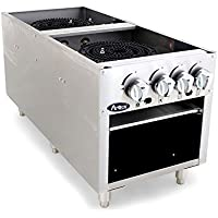 Atosa USA ATSP-18-2 (High BTU 160k) Heavy Duty Stainless Steel Stock Pot Stove - Propane