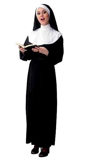 """365ac09061074c Damen-Kostüm """"NONNE"""" einteiliges Kleid mit Haube, für Karneval,  Fasching"""
