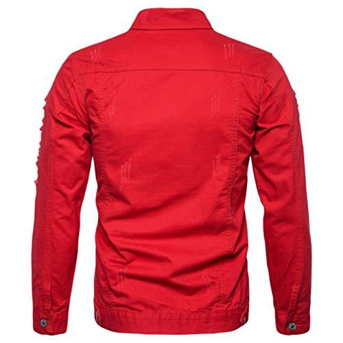 Manches À Longues Hommes Veste Rouge Jean Pour Magiyard En Denim xqwgRIw