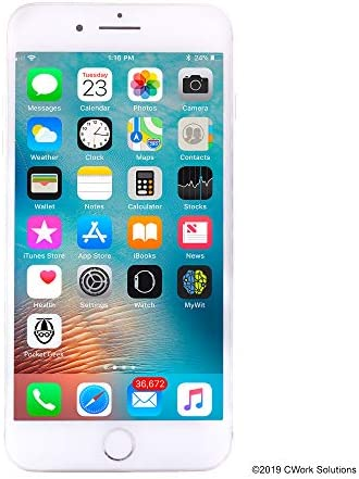 Apple iPhone 8 Plus, 256GB, Silver - Fully Unlocked (Renewed)